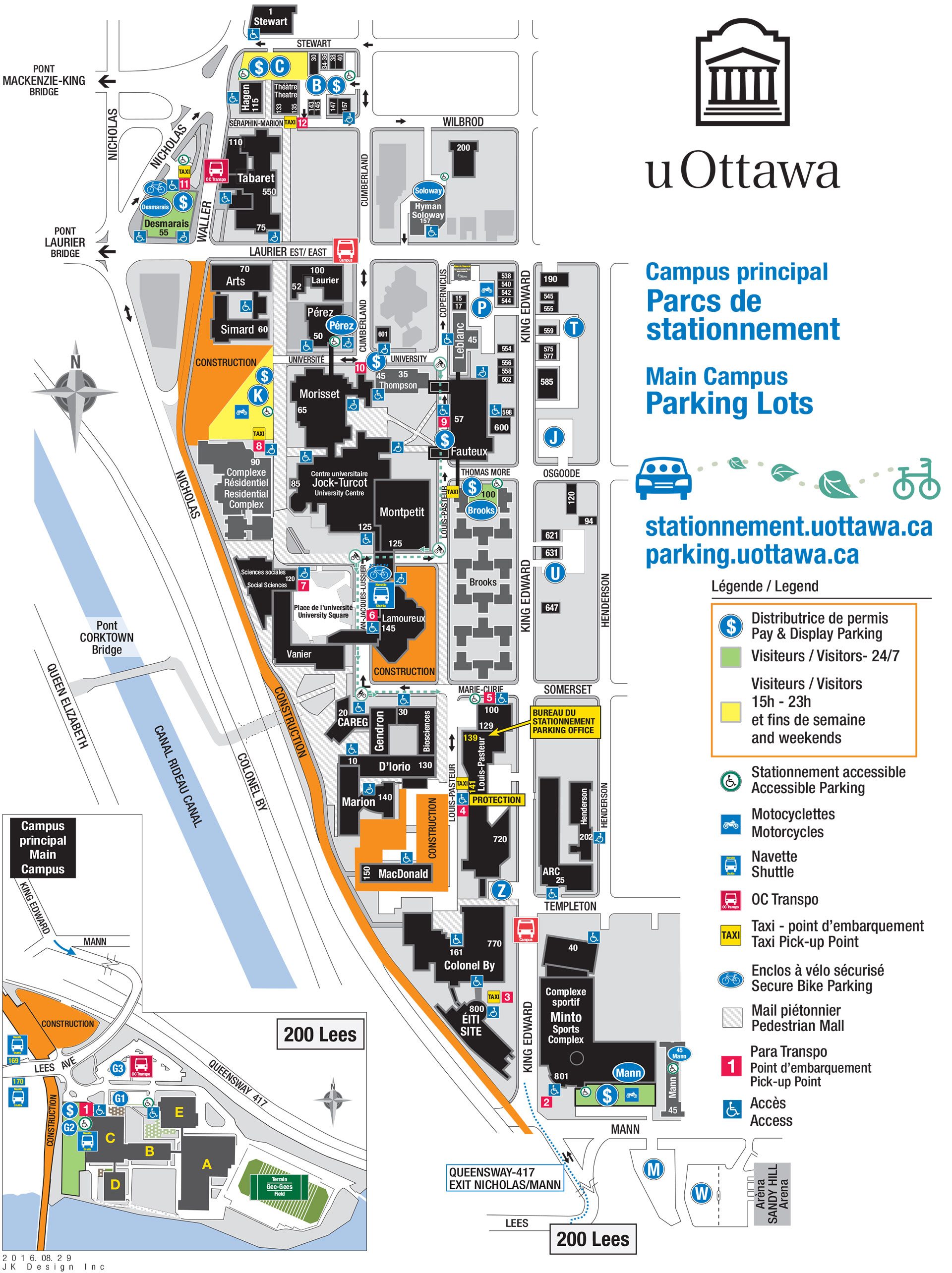 Ottawa University Campus Parking Map
